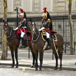 france, paris, horses, military, guards, outside