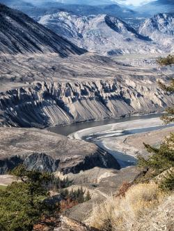fraser river, canada, mountains, landscape, scenic