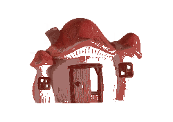 free, home, red roof, fairy castle, small castle, door