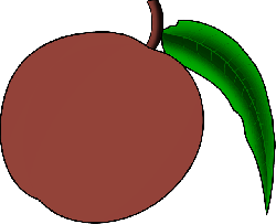 fruit, drawing, cartoon, media, free, clip, peach
