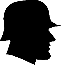 german, man, profile, retro, silhouette, soldier