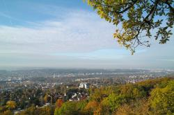 germany, landscape, sky, clouds, city, town, autumn