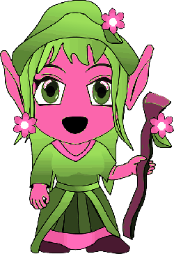 girl, gnome, fantasy, fairy, creature, elf