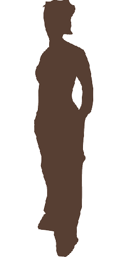 girl, posing, silhouette, standing, student, woman