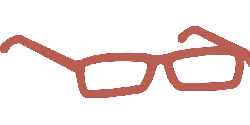 glasses, pair of glasses, reader, red