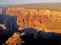 grand canyon, arizona, usa, aerial view, canyon red
