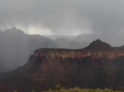 grand canyon, gorge, thunderstorm, storm, rock, clouds