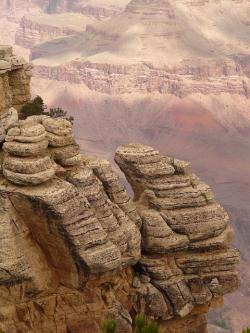 grand canyon, gorge, view, wide, valley