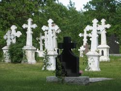 graves, headstones, death, dead, graveyard, cross