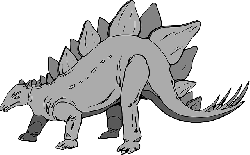 gray, color, dinosaur, stegosaurus, ancient, spikes