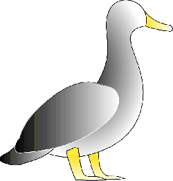gray, digital, white, cartoon, bird, duck, blank