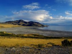 great salt lake, water, reflections, landscape, scenic
