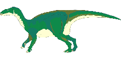 green, dinosaur, standing, tail, ancient
