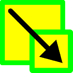 green, icon, yellow, down, scale, lemon, image, rescale