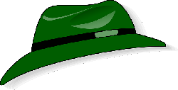 green, people, clothing, hat, hats, fedora