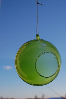 green, sphere, ornament