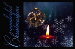 greeting card, candle, snowflakes, advent, tree