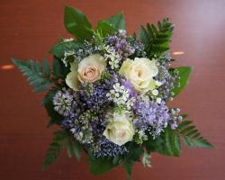 greeting, flower bouquet, the roses, flowers, lilac