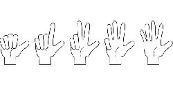 hand, counting, fingers, one, two, three, four, five