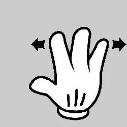 hand, finger, gesture, indication, android gesture