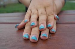 hands, gel nails, summer, the beauty of the, girl