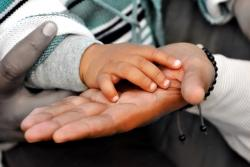 hands, hand, care, father, child, family, bound