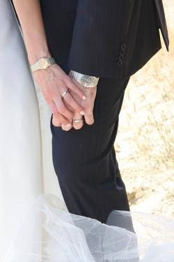 hands, wedding, love, couple, watch, togetherness