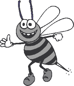 happy, cartoon, bee, hands, wings, insect, smile