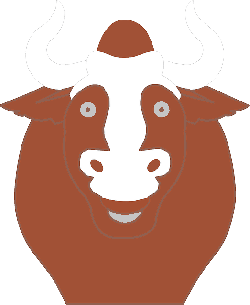 happy, face, cartoon, bull, horns, animal