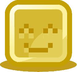 happy, smiling, smiley, computer, pixelated, yellow