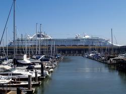 harbour, boats, cruiser, ship, marine, pacific, water