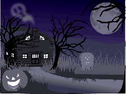 haunted house, landscape, spooky, halloween, creepy