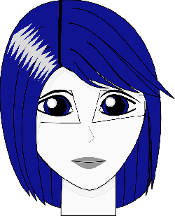 head, blue, people, girl, face, hair