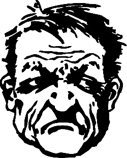 head, outline, people, man, bad, guy, face, person