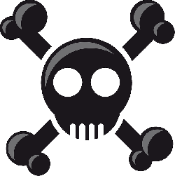 head, pirate, skull, death's head, skull and crossbones