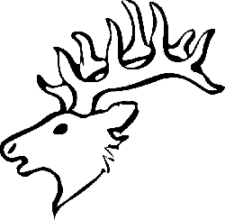 head, silhouette, face, skull, cartoon, deer, heads
