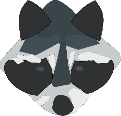 head, small, face, cartoon, little, raccoon, funny
