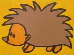 hedgehog, cartoon character, drawing, funny, image