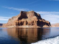 high, rock, near, lake powell, arizona, usa, page