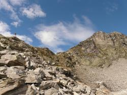hike, mountain, rock, scree, summit, great