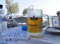 holiday, greece, beer, beach, hot, thirst, heineken