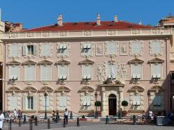 home, building, decorated, facade, stucco, monaco