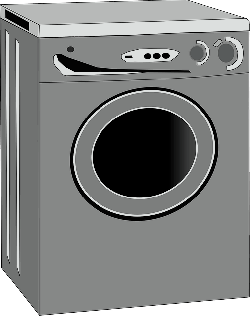 home, cartoon, electric, free, washing, machine, washer