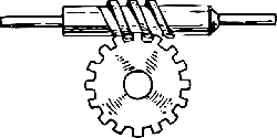 horizontal, worm, gear, gears, mechanical, motion