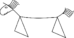 horse, stylized, line drawing