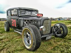 hotrod, car, automobile, hdr, vehicle, motor vehicle