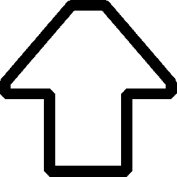 house, black, icon, outline, arrow, white, pointing