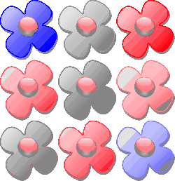icon, flower, flowers, cartoon, plant, game, marbles