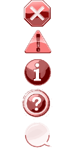 icon set, stop, cancel, abort, attention, info, help