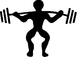 icon, silhouette, cartoon, free, fat, power, logo, lift